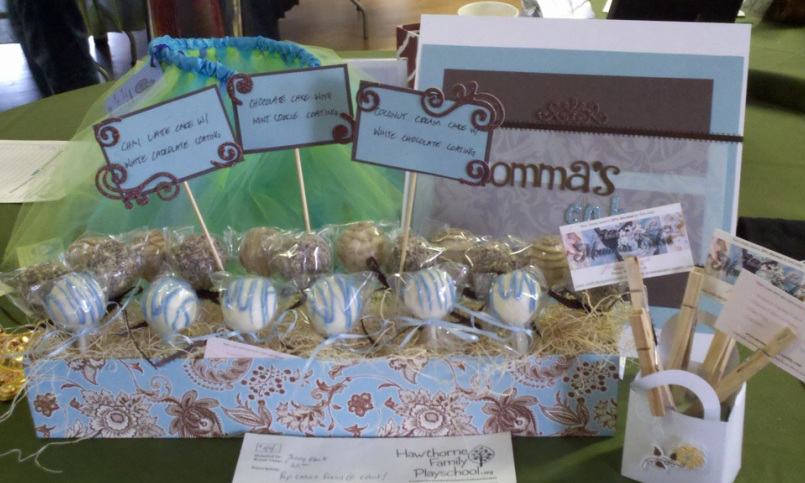 Cake pops in display by Jenny Black
